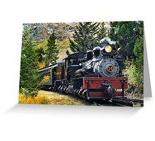 West Side Lumber Shay #14 on the Georgetown Loop Railroad Greeting Card