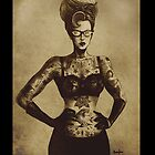 Vintage StyleTattooed Rockabilly Pinup by ScreamingDemons