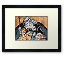 Thorin, Bilbo and Gandalf, a story of friendship Framed Print