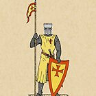 Crusader Knight, Early 13th Century by Richard Fay