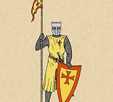Crusader Knight, Early 13th Century by RHFay
