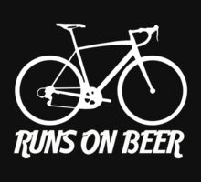 Runs on Beer - Road Bike by Jeff Clark