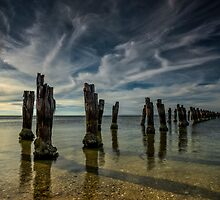 Sunset at the Springs - Clifton Springs Victoria by Graeme Buckland