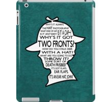 Sherlock's Hat Rant iPad Case - Teal iPad Case/Skin