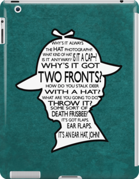 Sherlock's Hat Rant iPad Case - Teal by jlechuga