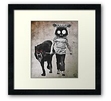 out for walk Framed Print