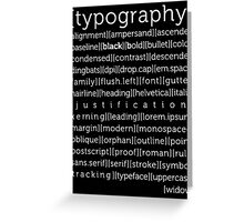 typography again Greeting Card