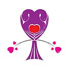 Love Birds &#x27;Purple Heart&#x27; by Christopher Richards