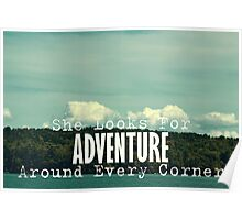 She Looks for Adventure  Poster