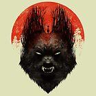Red Rising Moon by Dan  Burgess