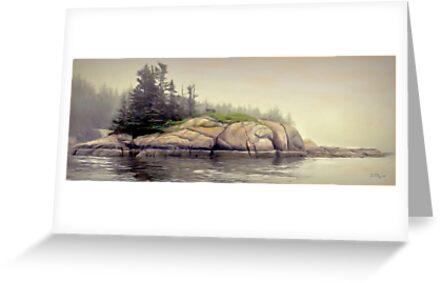 Foggy Morning,Stonington Maine by Dave  Higgins