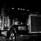 Freightliner by Night on the Sand of Miami Beach, Florida by 242Digital