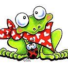Sweet Frog n Ladybug by offleashart