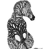 Zebra Tree by brookeduckart
