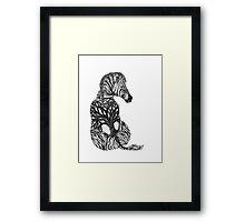 Zebra Tree Framed Print