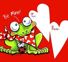 Froggy Be Mine Valentine by offleashart