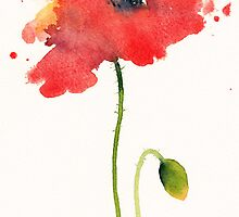 Red Poppy by Ramona Frederickson