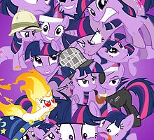 The many faces of Twilight Sparkle by tomigatica