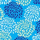 Chrysanthemums in Blue by Leona Hussey