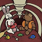 Teddy Bear And Bunny - Hard To Swallow by Brett Gilbert