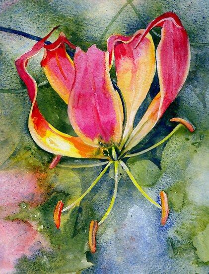 Gloriosa Lily by Val Spayne