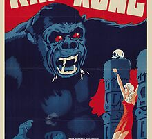 1933 King Kong Danish Movie Poster by VintageInk