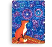 Star Gazing Fox Canvas Print