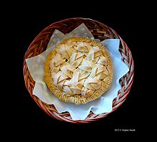 Home Made Honeycrisp Apple Pie In Wicker Basket  by © Sophie Smith