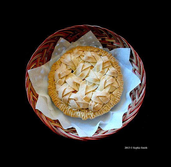 Home Made Honeycrisp Apple Pie In Wicker Basket  by © Sophie W. Smith