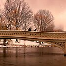Bow Bridge Winter Panorama by Chris Lord