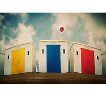 Huts And Balloons Photographic Print