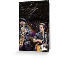 The Boss and The Big Man Greeting Card