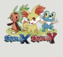 Pokemon X&Y- NEW (Chespin,Fennekin and Froakie) by silverkid