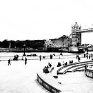 View of Tower Bridge and Tower Hill in high key by Elana Bailey