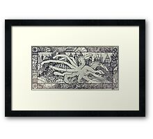 Hydra and the City Framed Print