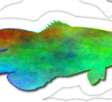 Drop The Bass - Rainbow Dubstep Shirt Sticker