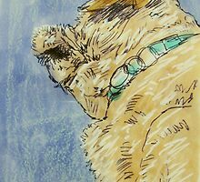 sleeping Lola portrait by donnamalone