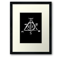 Deathly Hallows Framed Print
