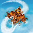 Happy Steampunk Robot by Jason Piperberg