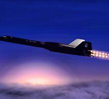 Lockheed SR-71 Blackbird by Walter Colvin