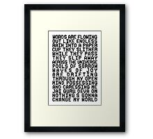 ACROSS THE UNIVERSE (black) Framed Print