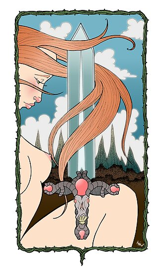 Sword series Girl 1  by Jason Wright