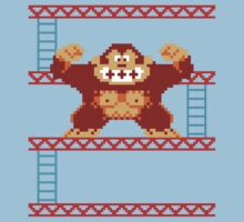 Classic 8 bit monkey  Kids Clothes