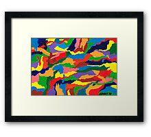 COLORS IN MOTION Framed Print