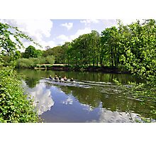 Rowing Practice, near Branston Photographic Print