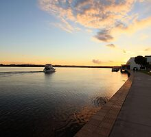 Sunset Richmond River Ballina NSW by OzNatureshots
