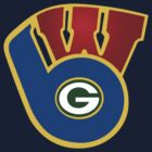 The Packers Brewers Badgers by punglam