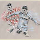 Shawcross and Aguero by Paulette Farrell