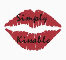 simply kissable sexy red lips fun party tee  by Tia Knight