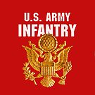 US Army Infantry Insignia -  iPad Case by Buckwhite